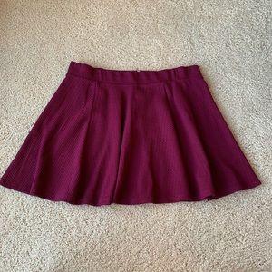 H&M Textured Burgundy Skirt